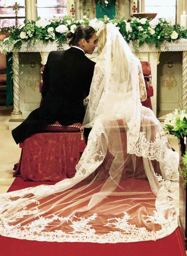 Wedding of Julio Iglesias Jr en Charisse Verhaert (wearing Pronovias)