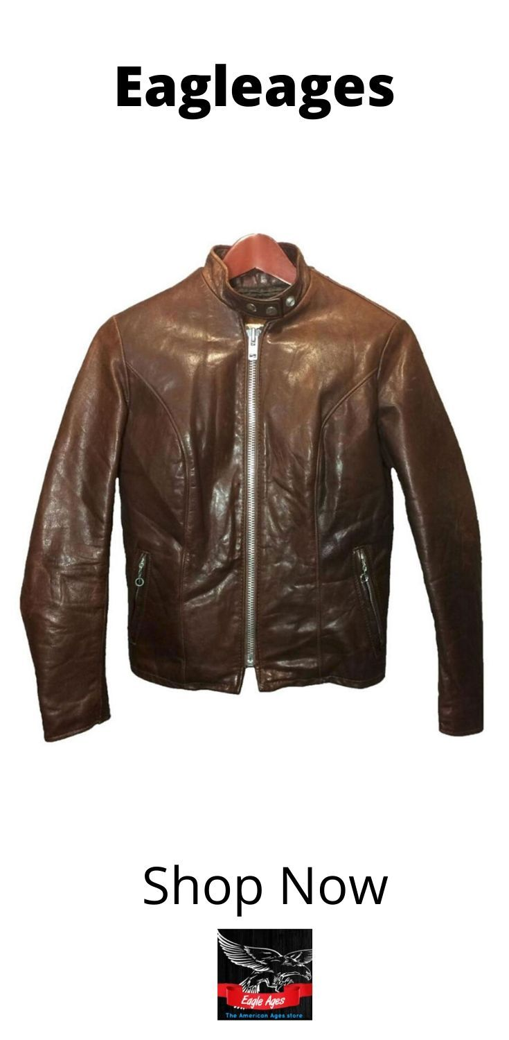 Schott Brown Leather Cafe Racer Jacket Women S Size 8 Vintage Cycle Rider Motorcycle Jacket Cafe Racer Jacket Jackets For Women Brown Leather [ 1500 x 735 Pixel ]