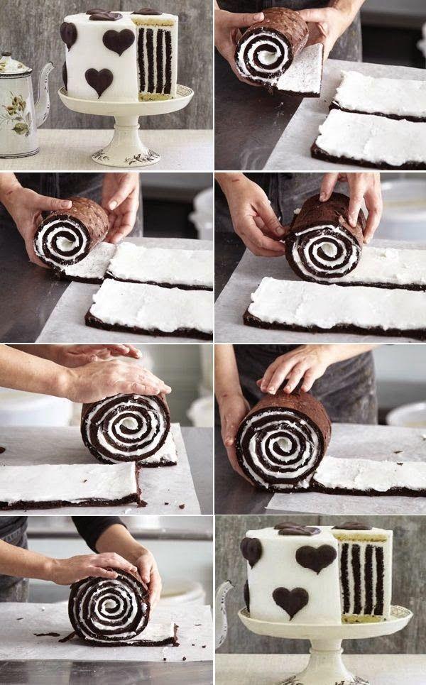 Gorgeous Chocolate Stripe Cake ♥:
