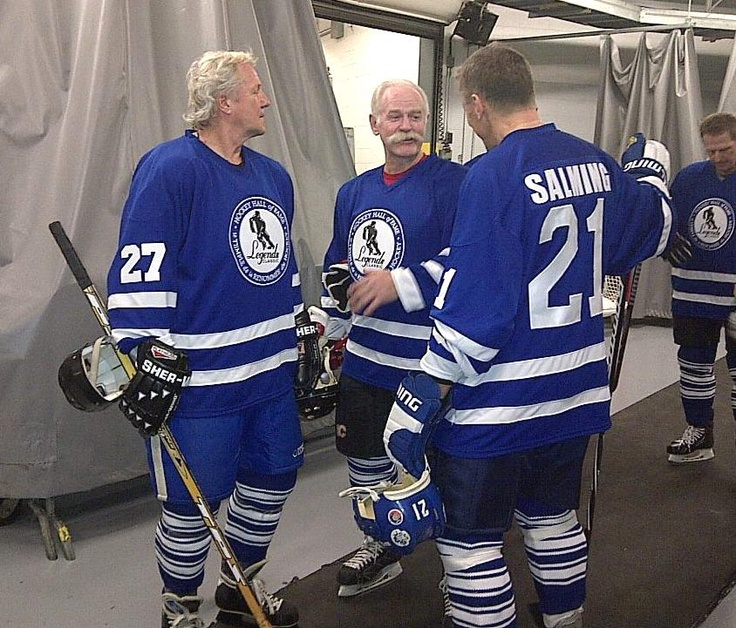 Darryl Sittler, Lanny McDonald, and Borje Salming - those were the days