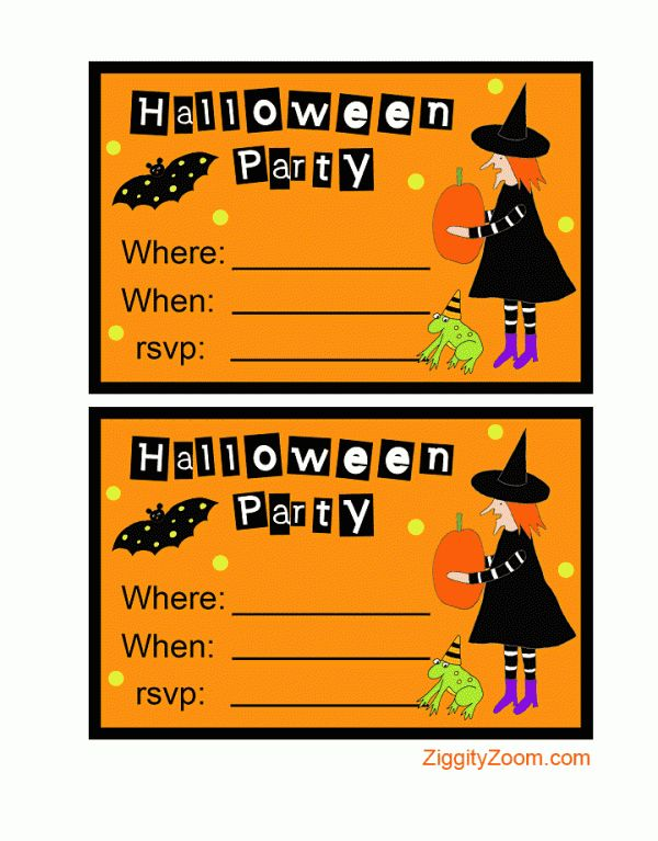 printable halloween invitations halloween party invitations