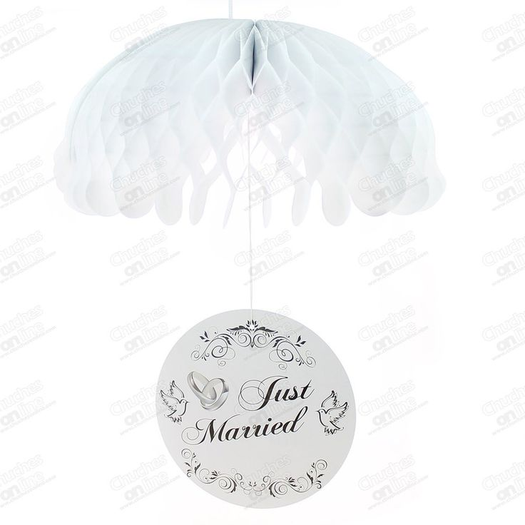 PARACAIDAS PAPEL JUST MARRIED UNIDAD