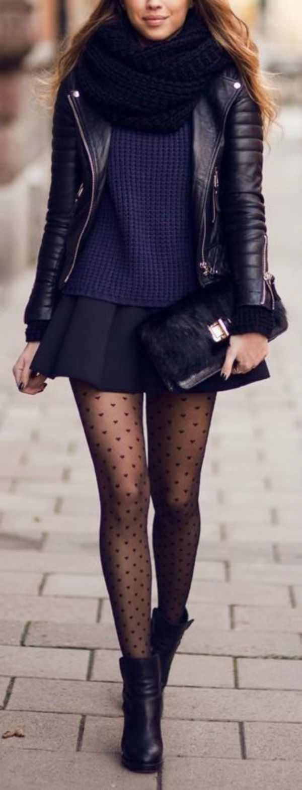 Sexy Winter Skirt Outfit Ideas (11) - if the skirt was a bit longer... like 5 inches longer...
