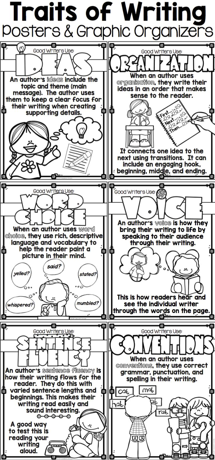 6 traits of writing organization Activities in this guide accompany charlesbridge picture books use these resources to teach your students the six traits of writing: ideas, organization, word choice.