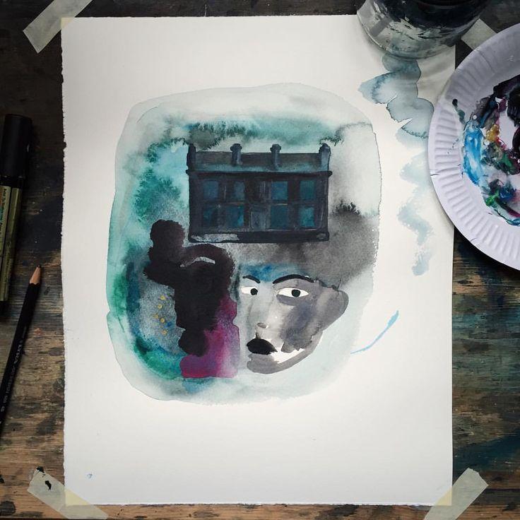 Acrylic on paper - Camilla Knutsen Art    #camillaknutsenart #ohbecourageous