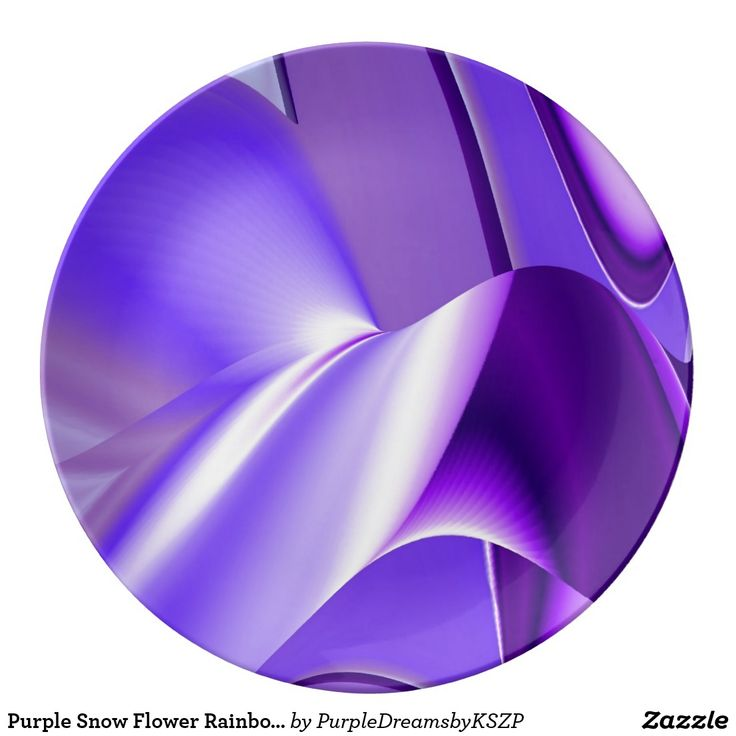 #Purple #Snow #Flower #Rainbow Dreams #Porcelain #Serving #Dinner #Round #Plate #New by Krisi ArtKSZP on #Zazzle