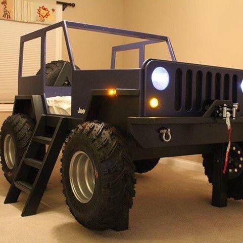 19 best images about jeep bed on pinterest car bed creative and vintage - Jeep toddler bed plans ...
