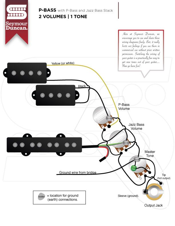 bass wiring diagram 2 volume 1 tone  2013 duramax fuel