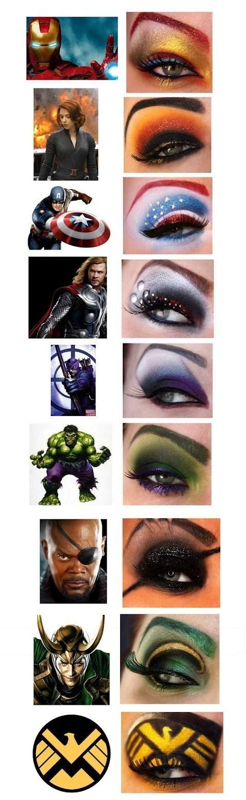 Avengers Eye Makeup <3