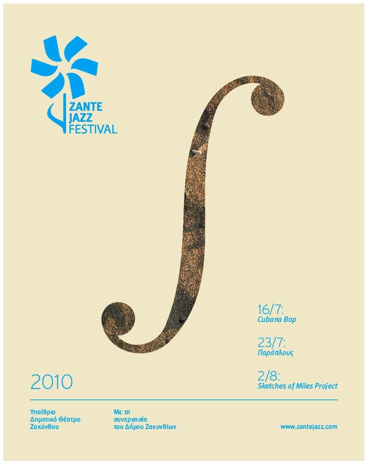 Zante Jazz Festival Poster