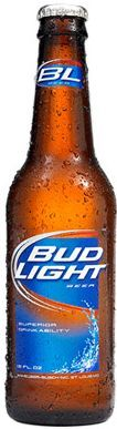 Bud Light Bier Glas 330 ml / 4.2 % USA