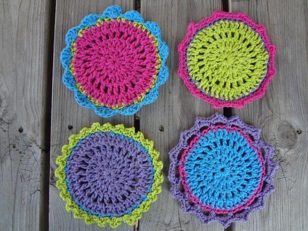 20 mejor c rculo de crochet patrones mandalas tapetes - Patrones monederos ganchillo ...