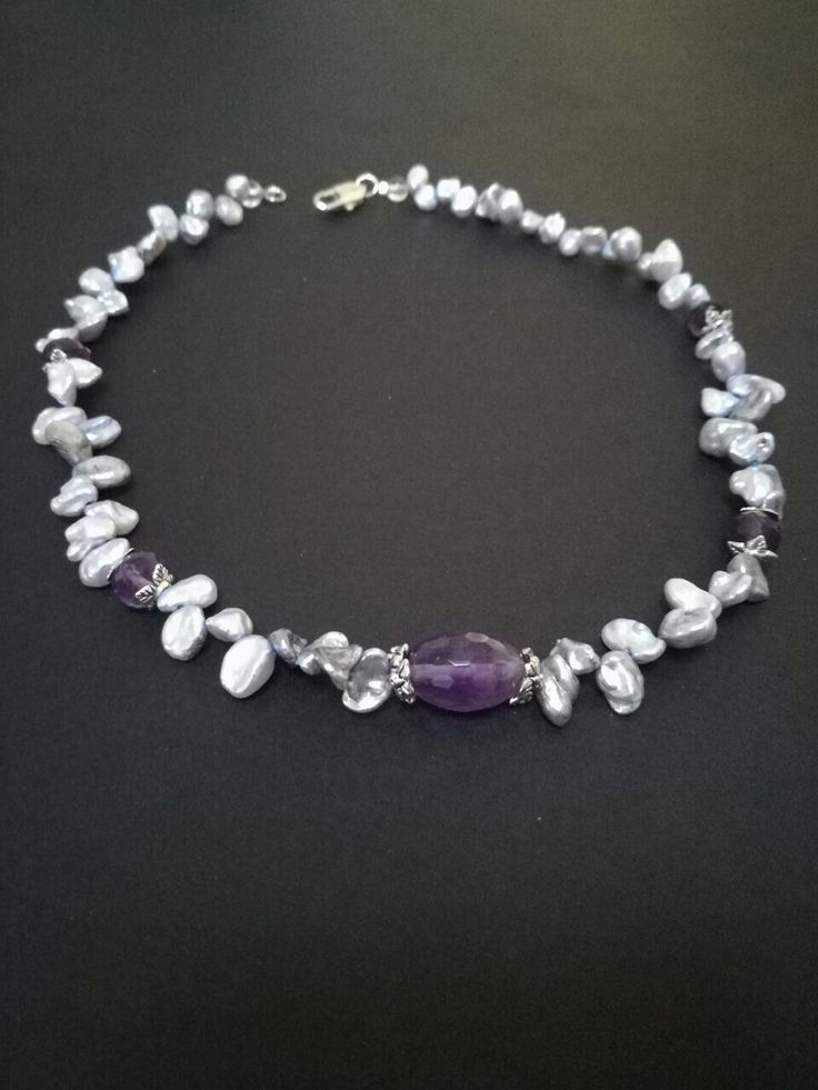 Light and gentle necklace with our Pastel violet keshi pearls 1540 https://www.etsy.com/listing/253163626/1540pearls-keshi-6-9mmviolet-pastel?ga_search_query=1540&ref=shop_items_search_1, https://www.livemaster.ru/item/20512117-ukrasheniya-kole-iz-zhemchuga-s-ametistami
