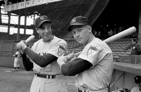 Joe DiMaggio and Mickey Mantle, 1951