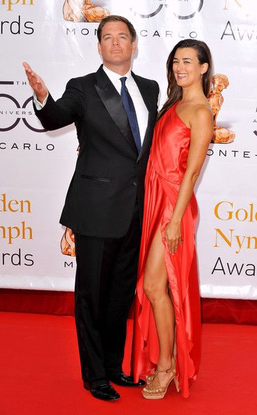 Michael+Weatherly+Wife | Michael Weatherly Actors Michael Weatherly and Cote De Pablo arrive at ...