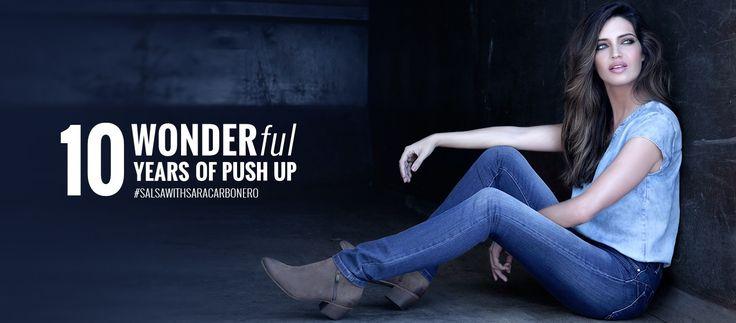 La marca Salsa jeans saa un nuevo vaquero push up cuya imagen es sara Carbonero