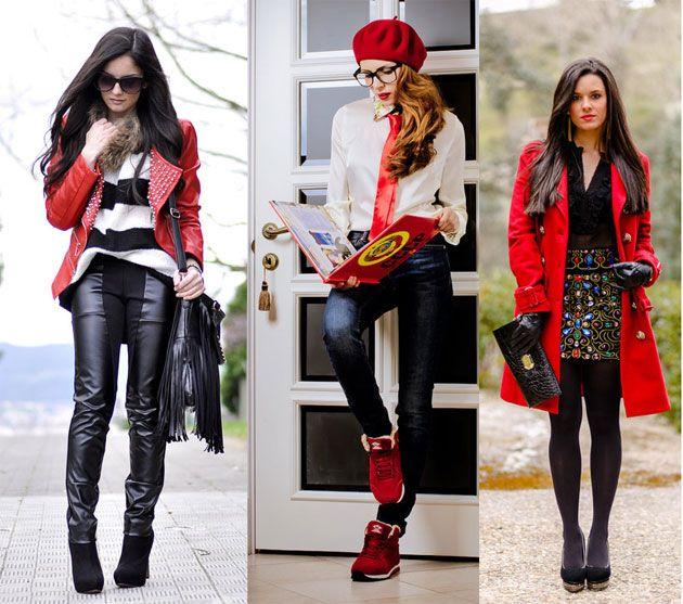Comment porter une veste rouge femme