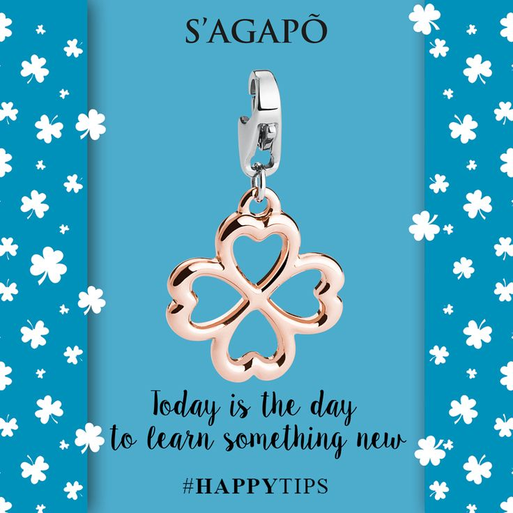 Toay is the day to learn something new #happyTips #tips #quotes #quote #ciondoli #charm #quadrifoglio #goodluck