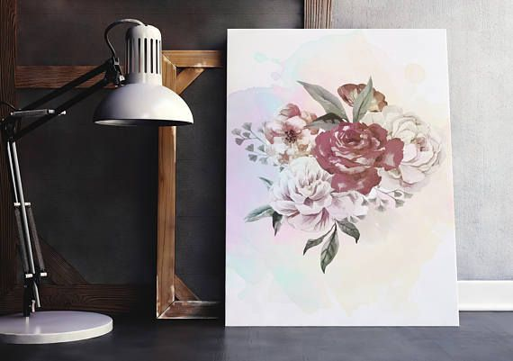 Watercolor bouquet of flowers watercolor painting flowers