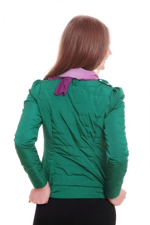 Куртка А5298 Размеры: 42-50 Цвет: изумруд Цена: 1875 руб.  http://optom24.ru/kurtka-a5298/  #одежда #женщинам #куртки #оптом24
