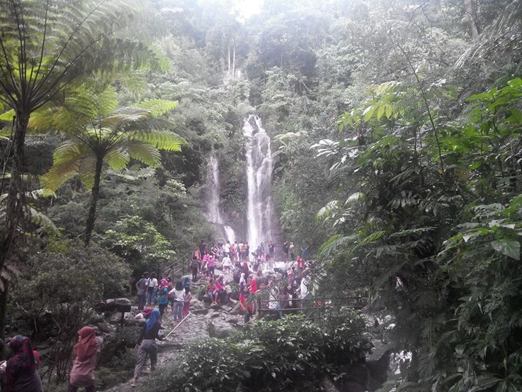 Wonderful waterfall in Puncak West Java.  Cicurug tourism park has six waterfalls. Very easy to go there.