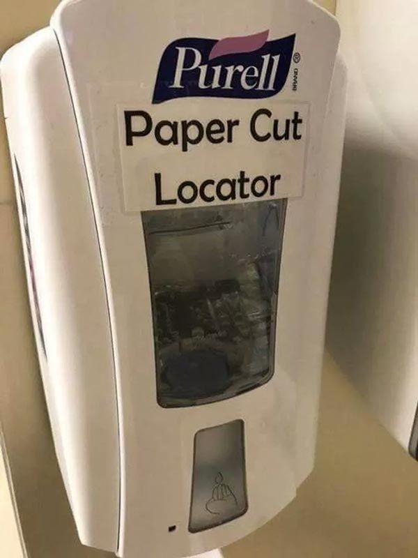 Paper Cut Locator