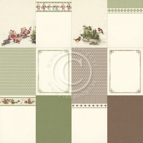 """PION DESIGN - MEMORY NOTES PD4832 - CHRISTMAS IN NORWAY 2                                                                    TOSIDIG MØNSTERARKi serien""""MEMORY NOTES""""en ny kolleksjon fraPION DESIGN. Arket måler ca 30,5cm x 30,5cm.Memory Notes - a collection intended to make memory keeping easier - Different designs in size 4x4"""", 4x6"""" and 3x4"""" - Pa..."""