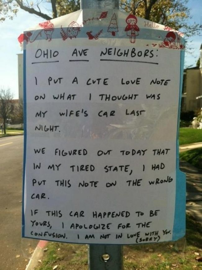 Sometimes the easiest way to get a laugh is by walking through the neighborhood. - Neighbor Note #signs, #funny signs, #jokes, #funny