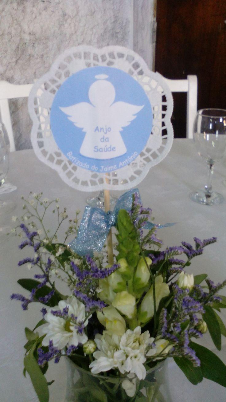 Anjo centro de mesa