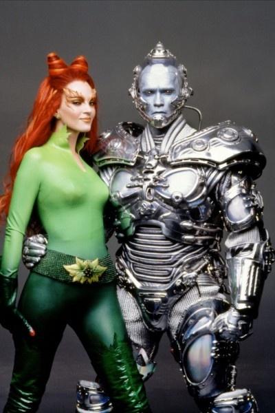 Poison Ivy / Dr Pamela Isley & Mr Freeze / Dr Victor Fries - Uma Thurman & Arnold Schwarzenegger & Batman & Robin 1997