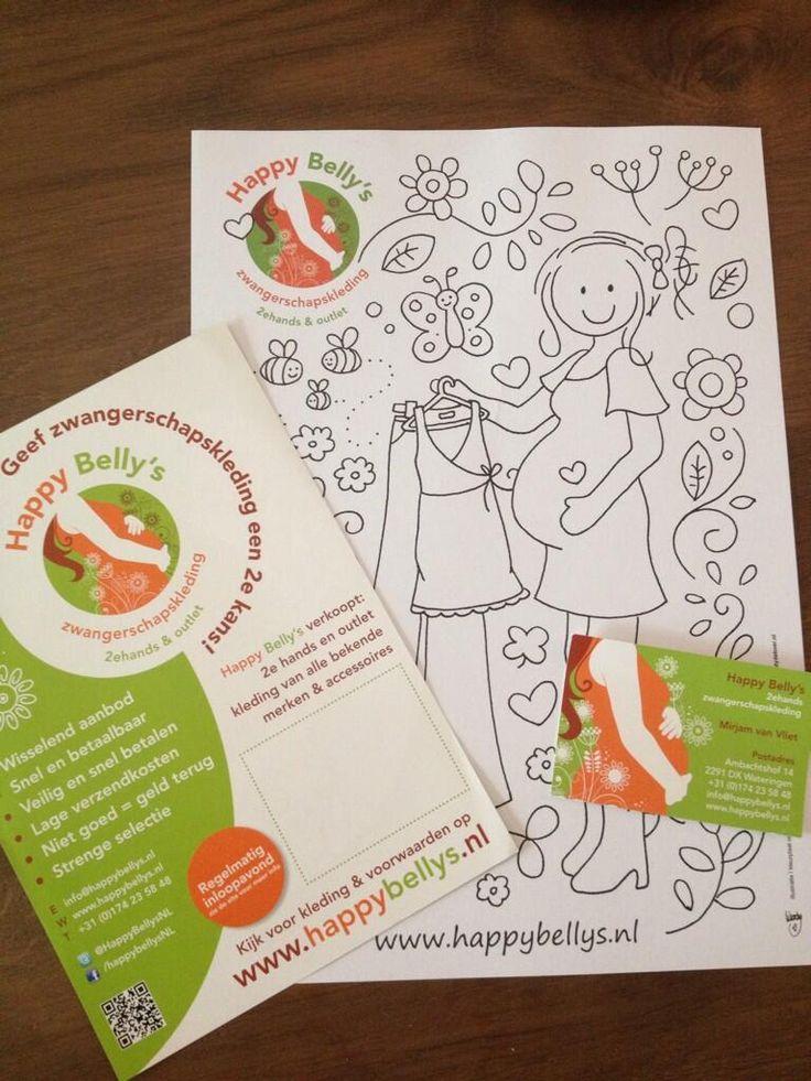 Happy Belly's #corporate #identity | uploaded by www.drukwerkdeal.nl