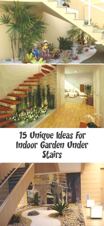 15 Unique Ideas For Indoor Garden Under Stairs 15 Unique Ideas For Indoor Ga Dogke In 2020 Indoor Garden Fake Plants Decor Indoor Gardens