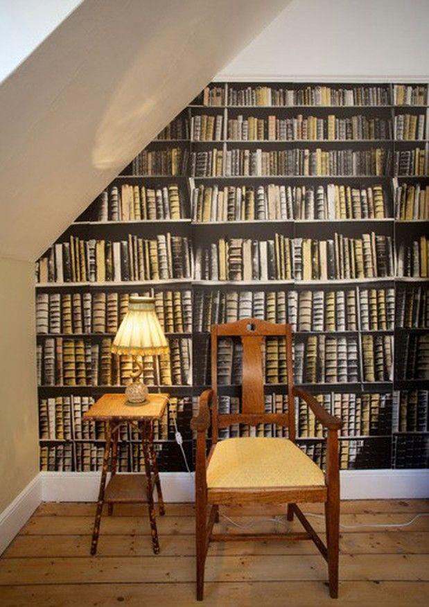 New Antique Books - Fake Books wallpaper by Deborah Bowness