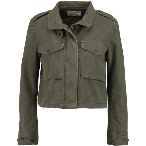 Rag & bone Cropped denim jacket (2.744.200 IDR) ❤ liked on Polyvore · Army Green  JeansOlive ... - Best 20+ Olive Green Jeans Ideas On Pinterest Green Jeans, Army