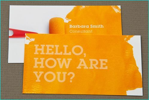 22 Examples Of Yellow Colored Business Cards