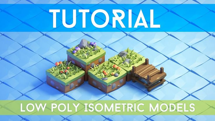[Tutorial] - 3d Isometric Game Tiles - Low Poly style  | Blender