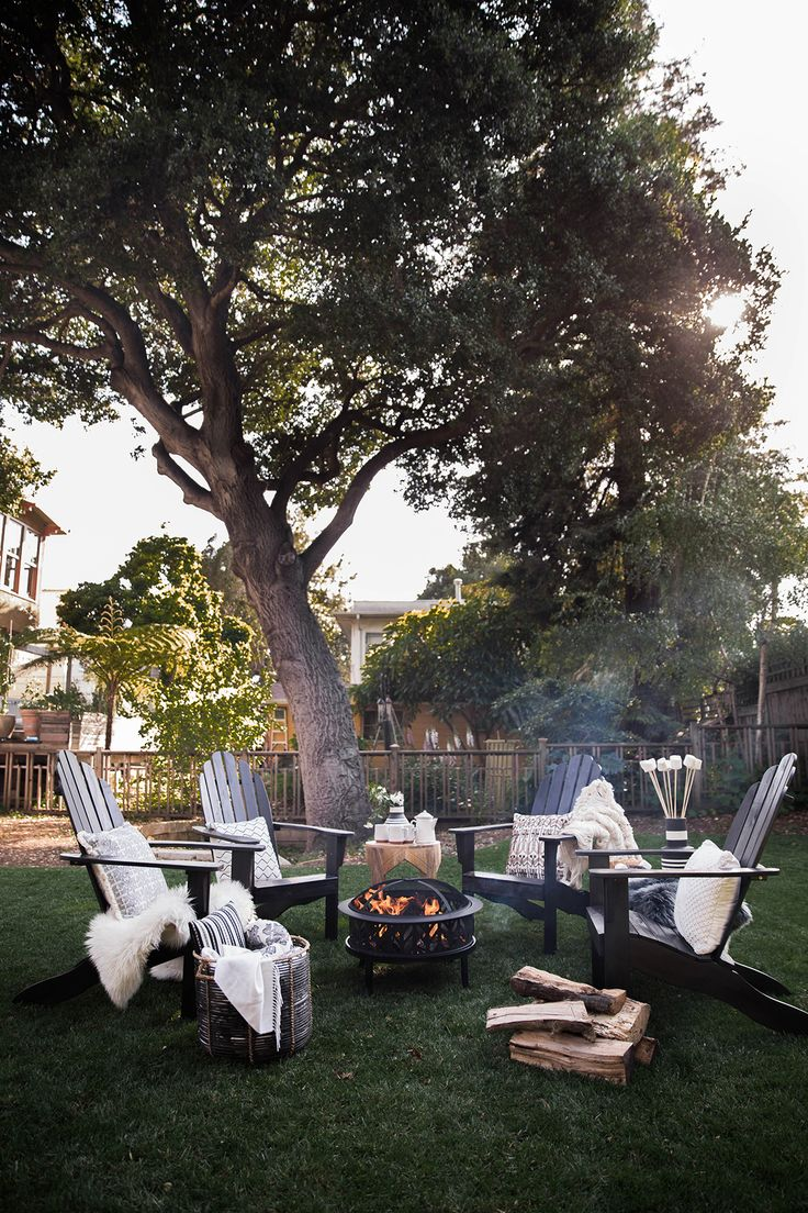 Low key entertaining outdoors. S'mores party! #targetstyle