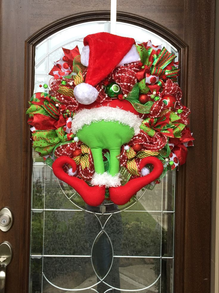 grinch wreath. Black Bedroom Furniture Sets. Home Design Ideas