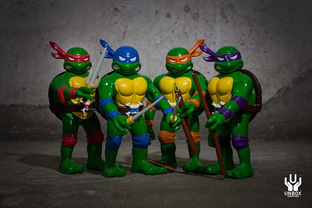 UNBOX INDUSTRIES × REAL X HEAD Teenage Mutant Ninja Turtles Figures
