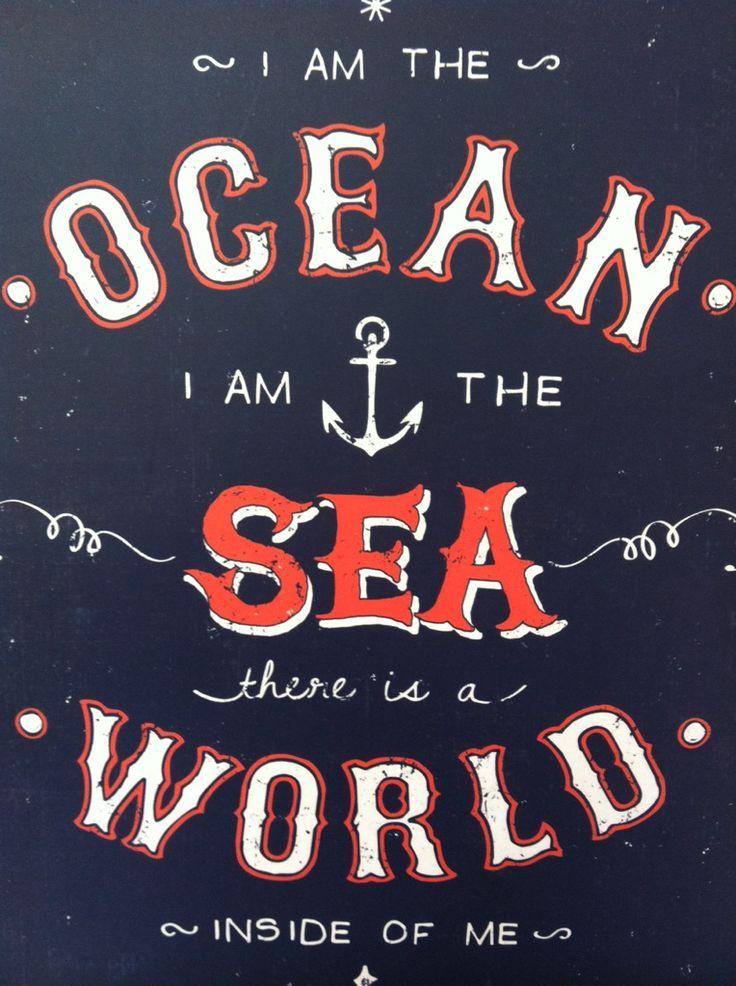 Beach House, Ocean Typography Sea, The Ocean, Bandsss, Crucified, Bringmethehorizon, Beach Life, I Am, The Sea