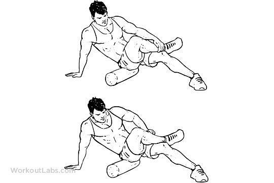 Foam Roller Glutes / Butt Stretch