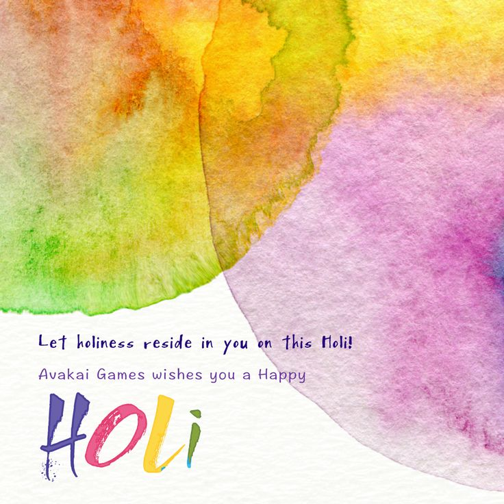 Let holiness reside in you on this #Holi..... @avakaigames   #HappyHoli