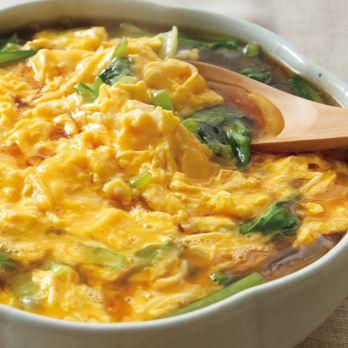 小松菜のあんかけ卵のせ