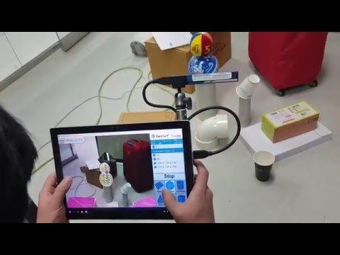 Augmented Reality: Real time geometric feature extraction and annotation - YouTube