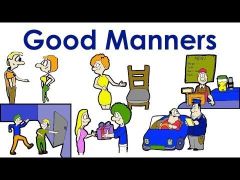 Good Manners | Polite | Easy English Conversation Practice | ESL. - YouTube