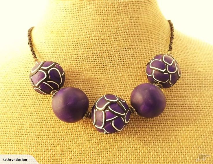 Purple and Black Kathryn Design Chunky Necklace Retails for $30 NZD