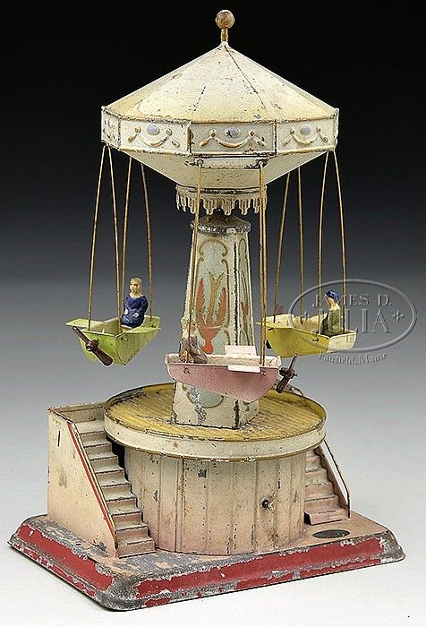 GERMAN DOLL AND COMPANY AIRPLANE CAROUSEL.