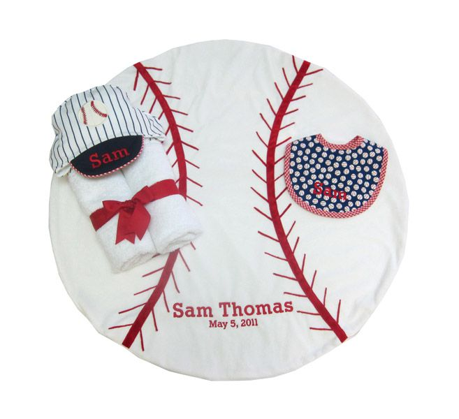 39 best corporate baby gifts images on pinterest baby gifts babys its baseballl season and what dad wouldnt like to cuddle his future star in this handmade baby baseball blanket personalized baby stuff makes a great gift negle Image collections