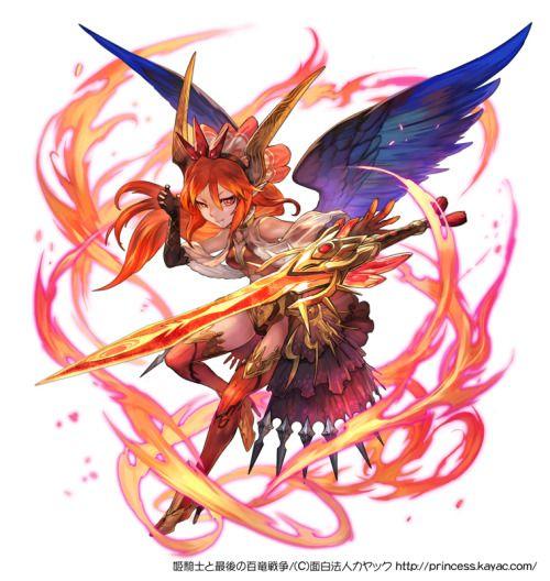 「ベリアル」 面白法人カヤック様から発表の 「姫騎士と最後の百竜戦争」http://princess.kayac.com/ にて制作させていただいた武器に宿る精霊のイラストです。