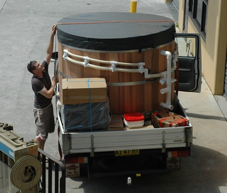 Ukko Enviro 8 person tub - factory pre assembled and delivered to Dee Why, NSW